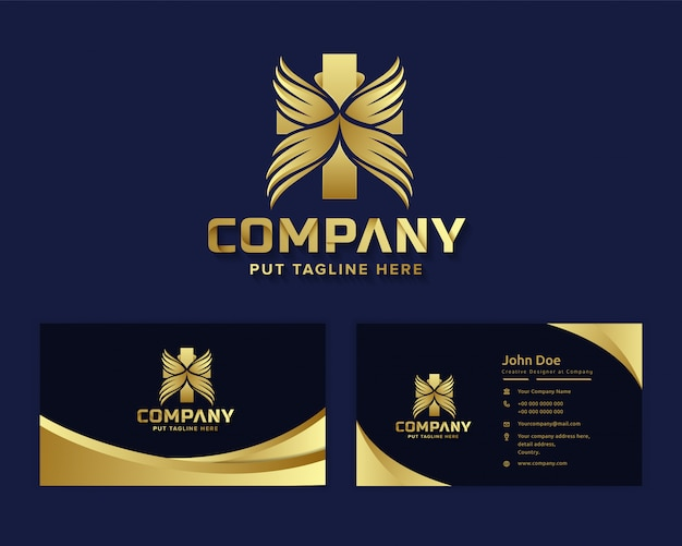 Logo de l'hôpital médical de luxe premium
