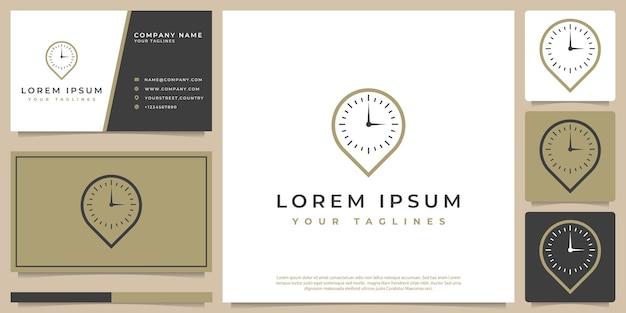 Logo d'horloge moderne minimaliste