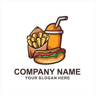 Logo De Hot-dog Vecteur Premium