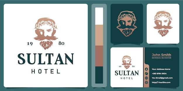 Logo de l'hôtel sultan avec modèle de carte de visite