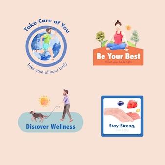 Logo ou icône avec la conception de la journée mondiale de la santé mentale