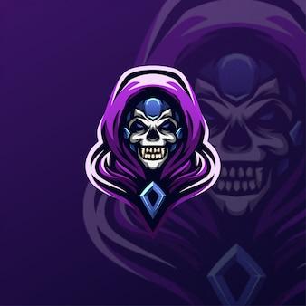 Logo icône crâne esports