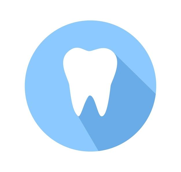 Logo de l'icône de la dent vector illustration isolé sur blanc backgroun