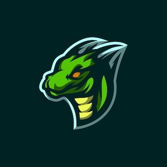 Logo icône dragon esports