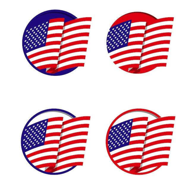 Logo d'icône drapeau américain