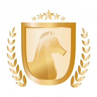 Logo d'icône emblème cheval
