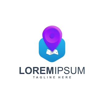 Logo d'icône emplacement carte