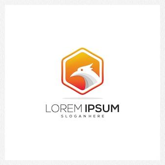 Logo icône entreprise moderne entreprise papier coloré simple antique