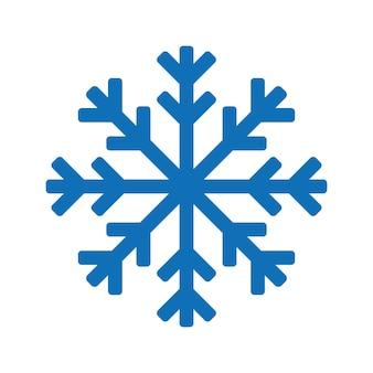 Logo d'icône de flocon de neige bleu. symbole de neige de vecteur de noël
