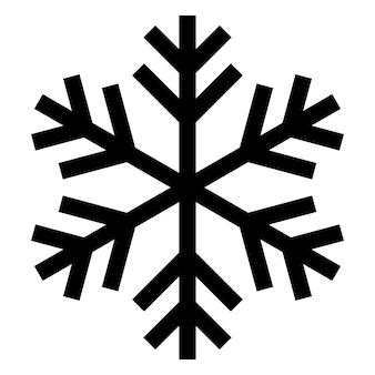 Logo d'icône de flocon de neige. symbole de neige de vecteur de noël