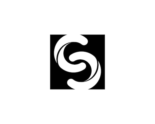 Logo d'icône infini lettre s