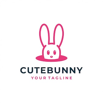 Logo et icône de lapin lapin.