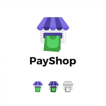 Logo icône de paiement en ligne