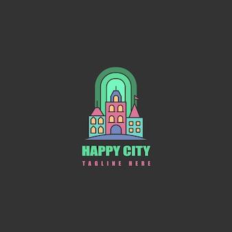 Logo d'icône avec la ville