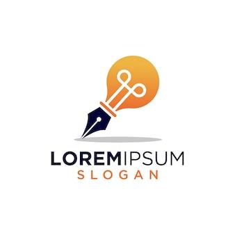 Logo d'idée de stylo