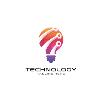 Logo idée techno moderne