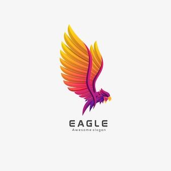 Logo illustration aigle élégant dégradé coloré