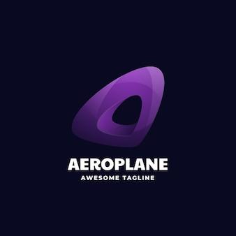 Logo illustration avec dégradé avion style coloré