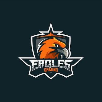 Logo illustration eagle e sport et style sport