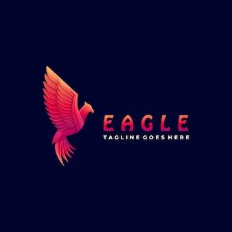 Logo illustration fly eagle gradient coloré