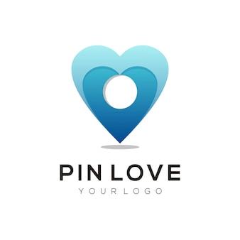 Logo illustration goupille amour style coloré dégradé