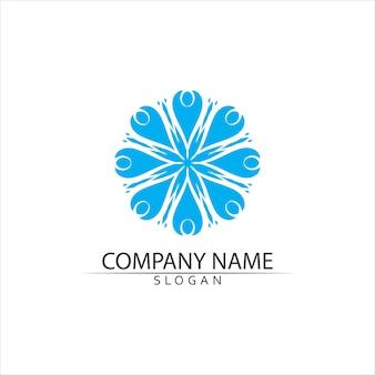 Logo d'illustration icône vague d'eau