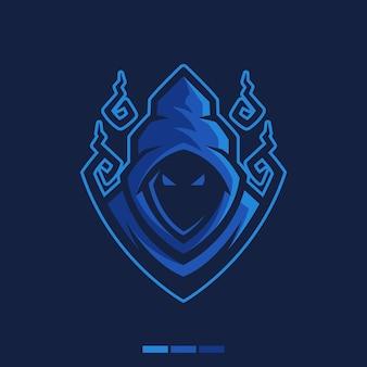 Logo illustration magicien mystérieux
