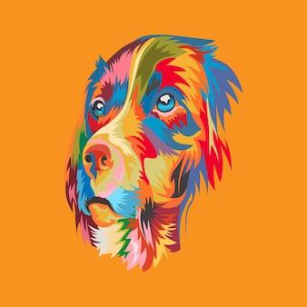 Logo d'illustration de mascotte de chien