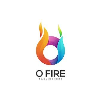 Logo illustration o lettre dégradé coloré