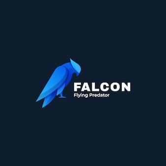 Logo illustration oiseau falcon gradient style coloré