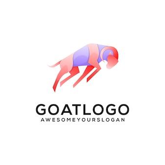 Logo illustration style coloré dégradé chèvre