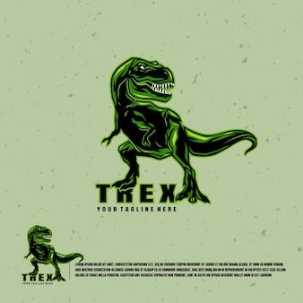 Logo d'illustration de tyrannosaure