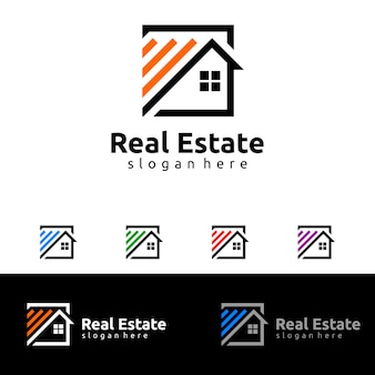 Logo immobilier, logo maison