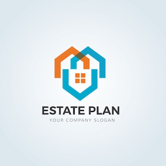 Logo de l'immobilier, logo de soins à domicile, propriété, logo de la maison, maison et bâtiment, modèle de logo vectoriel