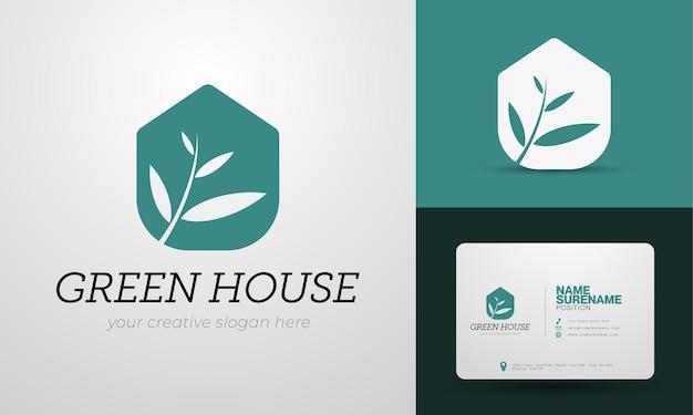 Logo immobilier luxueux et élégant avec thème vert