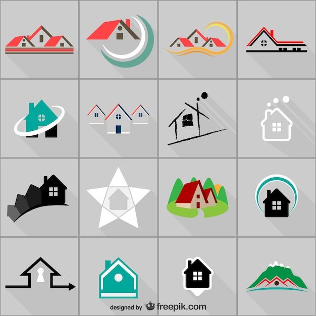 Logo de l'immobilier modèles