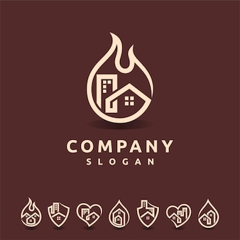 Logo immobilier avec plusieurs formes
