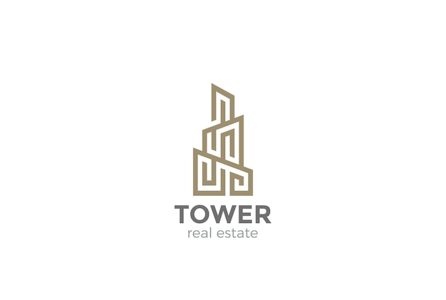 Logo immobilier. style linéaire