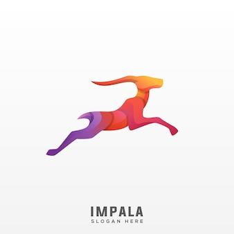 Logo impala coloré moderne