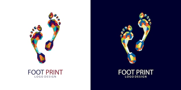 Logo d'impression de pied
