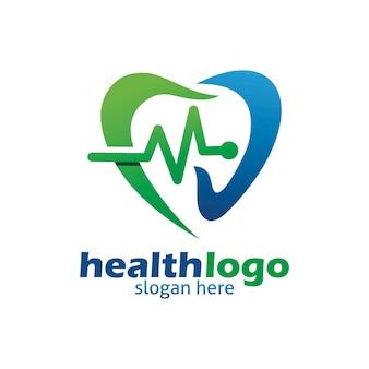 Logo d'impulsion d'amour sain