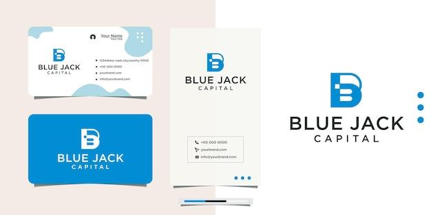 Logo initial b avec la couleur bleue