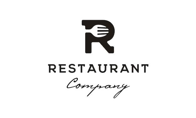 Logo initial / monogramme r pour restaurant