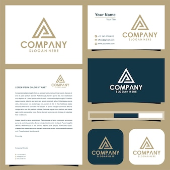 Logo initial pa triangle et carte de visite