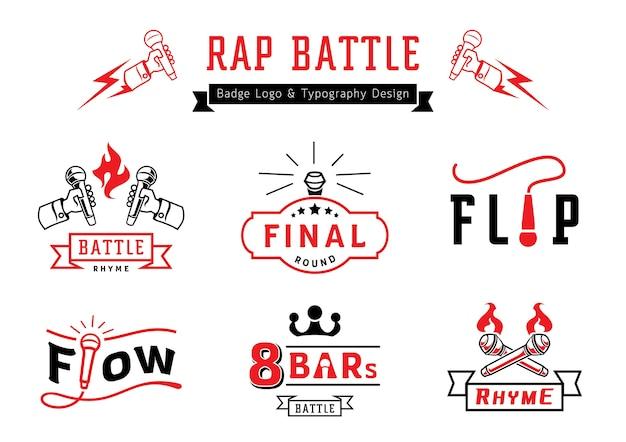 Logo d'insigne de bataille de rap et conception de typographie
