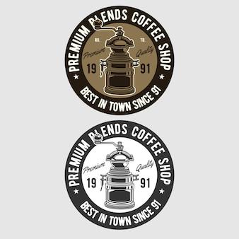 Logo d'insigne de café