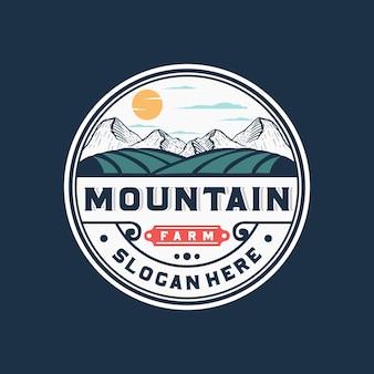 Logo d'insigne de ferme de montagne
