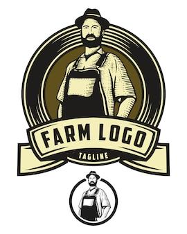 Logo d'insigne de ferme
