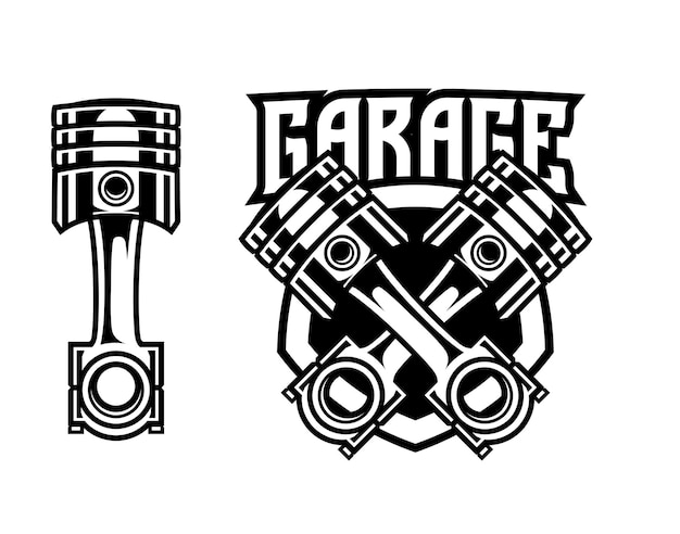 Logo d'insigne de garage