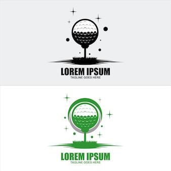 Logo ou insigne de golf, bouclier ou marque